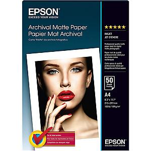Epson Archival Matte Paper - A4 - 50 Sheets A4