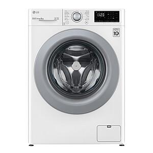 LG Washing machine F4WV308N4E Energy efficiency class C, Front loading, Washing capacity 8 kg, 1400 RPM, Depth 56.5 cm, Width 60 cm, Display, LED, Direct drive, White