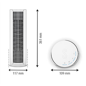 Stadler form Tower fan Peter Little P015 Stand Fan, Number of speeds 4, 9 W, Oscillation, Diameter 10.9 cm, White