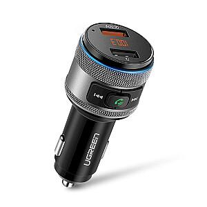 Ugreen ED029 automašīnas fm raidītājs 3.1A / 2 x USB / Bluetooth 5.0 melns
