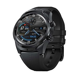 TicWatch Pro 4G/LTE Smart watch, NFC, GPS (satellite), AMOLED, Touchscreen, Heart rate monitor, Activity monitoring 24/7, Waterproof, Bluetooth, Black