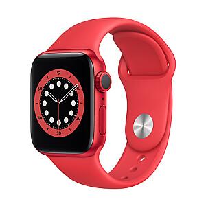 Apple Aluminium Case with Sport Band - Regular Series 6 GPS 40mm, Smart watch, GPS (satellite), LTPO OLED Retina, Touchscreen, Heart rate monitor, Waterproof, Bluetooth, Wi-Fi, Red