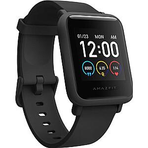 Amazfit Bip S Lite  Smart watch, GPS (satellite), AMOLED Display, Touchscreen, Heart rate monitor, Activity monitoring 24/7, Waterproof, Bluetooth, Charcoal Black
