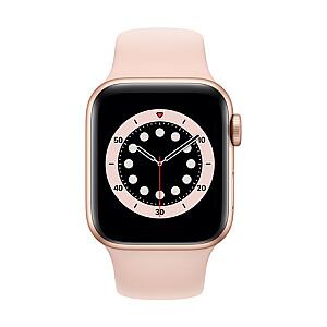 Apple Aluminium Case with Sport Band - Regular LT Series 6 GPS + Cellular 40mm, Smart watch, GPS (satellite), LTPO OLED Always-On Retina, Touchscreen, Heart rate monitor, Waterproof, Bluetooth, Wi-Fi, eSIM, Gold/Pink Sand