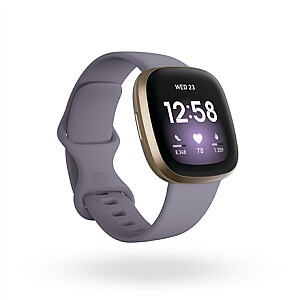 Fitbit Versa 3  Smart watches, GPS (satellite), Amoled, Heart rate monitor, Waterproof, Bluetooth, Soft Gold/Thistle