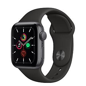 Apple Aluminium Case with Sport Band - Regular LT  SE GPS + Cellular 44mm, Smart watch, GPS (satellite), Retina LTPO OLED, Touchscreen, Heart rate monitor, Waterproof, Bluetooth, Wi-Fi, eSIM, Space Grey/Black, Black