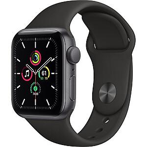 Apple SE GPS 40mm, Smart watch, GPS (satellite), LTPO OLED Retina, Touchscreen, Heart rate monitor, Waterproof, Bluetooth, Wi-Fi, Black/Gray