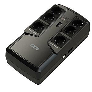 UPS MUSTEK 300 Watts 600 VA Wave form type Simulated sinewave Offline 600-LED-OFF-T10