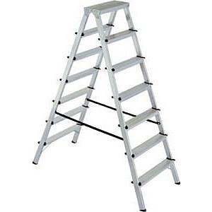 Kāpnes alumīnija DHR 7 pak. platf.augst 1.51m/max3.5m Elkop