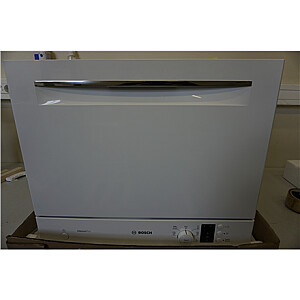 SALE OUT. Bosch Dishwasher SKS62E32EU Free standing, Width 55 cm, Number of place settings 6, Number of programs 6, A+, Display, AquaStop function, White, DAMAGED PACKAGING, BENT CORNERS AND BROKEN PLASTIC PART