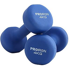 PROIRON PRKNED04K Dumbbell Weight Set, 2 pcs, 4 kg, Blue, Neoprene