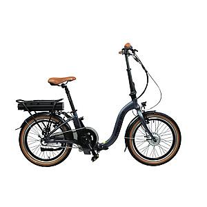 "Blaupunkt Folding E-bike FRANZI 500, Motor power 250 W, Wheel size 20 "", 22.5 kg, Aluminum, LCD, 4 h, Lava grey matt, 80 km"