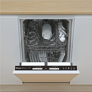 Candy Dishwasher CDIH 1L952 Built-in, Width 44.8 cm, Number of place settings 9, Number of programs 5, Energy efficiency class F, AquaStop function, White