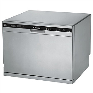 Candy Dishwasher CDCP 8S Free standing, Width 55 cm, Number of place settings 8, Number of programs 6, Energy efficiency class F, Silver