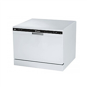 Candy Dishwasher CDCP 6 Free standing, Width 55 cm, Number of place settings 6, Number of programs 6, Energy efficiency class F, White