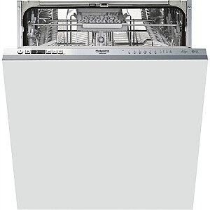 Hotpoint Dishwasher HIC 3C41 CW Built-in, Width 59.8 cm, Number of place settings 14, Number of programs 6, C, Display, Silver