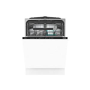Gorenje Dishwasher GV672C60 Built-in, Width 60 cm, Number of place settings 16, Number of programs 5, Energy efficiency class C, Display, AquaStop function, White