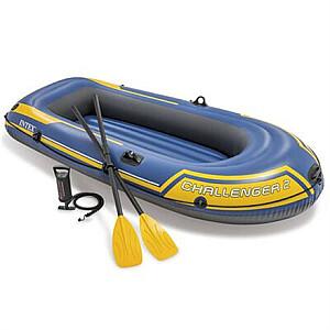 Intex Challenger 2 boat set Blue/Yellow, 236 x 114 x 41 cm
