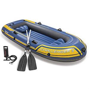 Intex Challenger 3 boat set Blue/Yellow, 295 x 137 x 43  cm