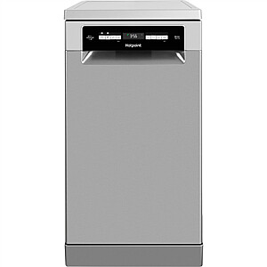 Hotpoint Dishwasher HSFO 3T223 WC X Free standing, Width 45 cm, Number of place settings 10, Number of programs 9, Energy efficiency class E, Display, AquaStop function, Inox