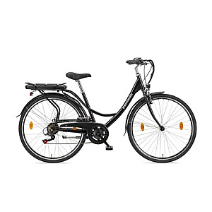 """Telefunken Senne, City E-Bike, Motor power 250 W, Wheel size 28 """", Warranty 24 month(s), Black"""