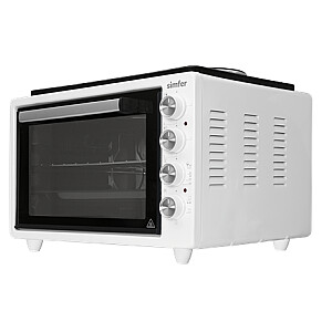 Simfer Midi Oven M4531.R02N0.WW3 36.6 L, Electric, Mechanical, White, With 2 Hot Plates (W/2 Knob Control)