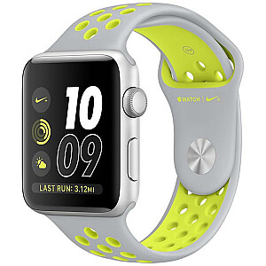 Apple iWatch Nike+ 38mm Silver Aluminium/Silver Yellow Sport Band MNYP2ZP/A USED (grade:A)