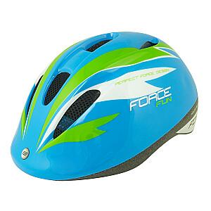 Aizsargķivere Force Fun Stripes bērniem zila/zaļa/balta