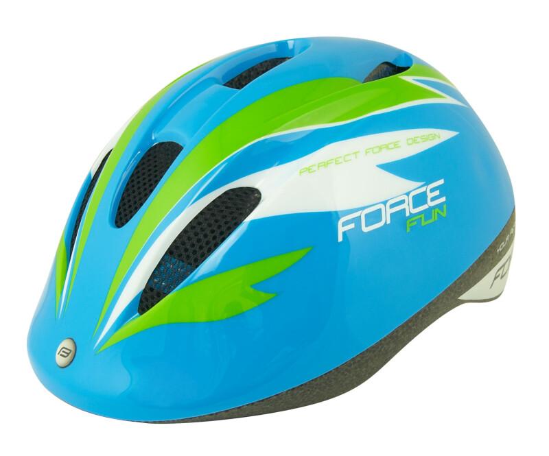 Aizsargķivere bērniem  Force Fun Stripes Blue/Green/White M (52-56 cm)