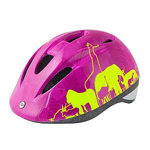 Aizsargķivere bērniem Force Fun Animal Pink/Electro Yellow S (48-54 cm)
