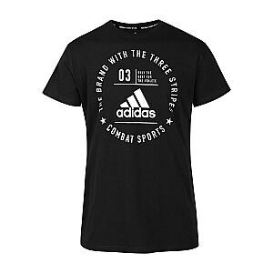 T-krekls Adidas Community melns/balts