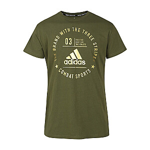 T-krekls Adidas Community zaļš/zelta