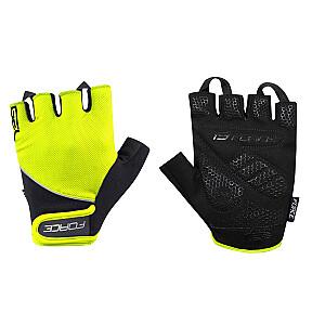 Cimdi Force Gel 17 Electro Yellow /Black XL izm.