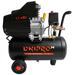 Kompresors 1100W 20L, ar eļļu AC-20 DNIPRO-M