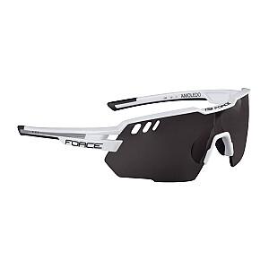 Brilles Force Amoledo baltas/pelēkas ar melnām lēcām
