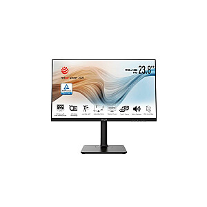 """LCD Monitor MSI MODERN MD241P 23.8"""" Business Panel IPS 1920x1080 16:9 75Hz Matte 5 ms Speakers Swivel Pivot Height adjustable Tilt Colour Black MODERNMD241P"""