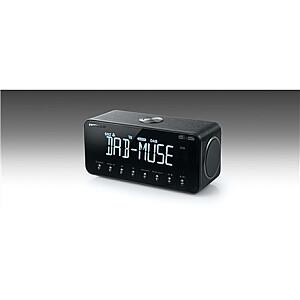 Muse DAB+/FM Clock Radio with Bluetooth M-196 DBT Alarm function, NFC, AUX in, Black