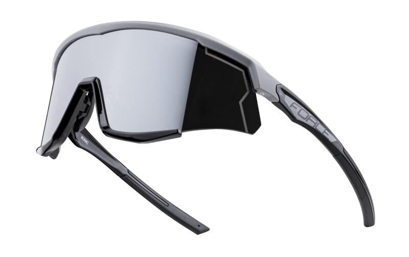 Sporta brilles Force Sonic pelēkas/melnas ar melnām lēcām