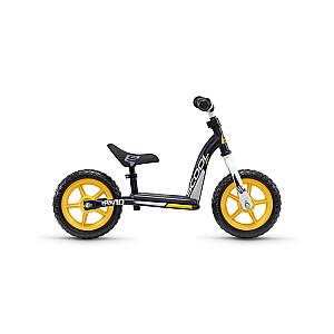 """Līdzsvara velosipēds (skrejritenis) Scool Pedex Easy 10"""" melns/dzeltens"""