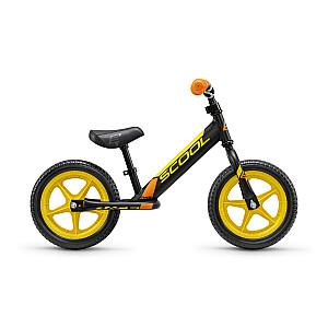 Līdzsvara velosipēds (skrejritenis) Scool Pedex Race melns/dzeltens