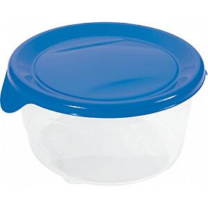 Pārtikas trauciņš apaļš 0,5L Fresh&Go zils