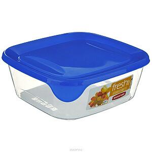 Pārtikas trauciņš kvadrāts 0,25L Fresh&Go zils