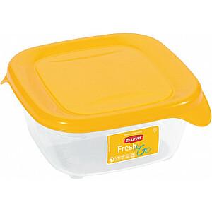 Pārtikas trauciņš kvadrāts 0,25L Fresh&Go dzeltens