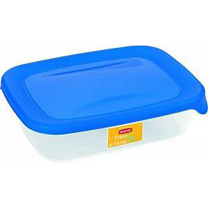 Pārtikas trauciņš taisnstūris 0,5L Fresh&Go zils