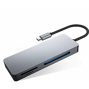 Lasītāja Platinet USB-C multivides adapteris (PMMA7056)