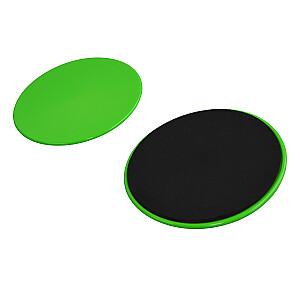 Diski Phoenix Exercise Sliding zaļi/melni (2gab)