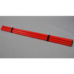 Phoenix treniņu mietu komplekts 8 gab. 120cm sarkans (X)