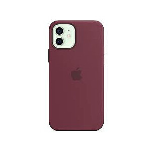MOBILE COVER SILICONE PLUM/IPHONE12/12PRO APPLE
