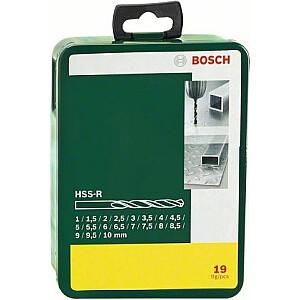Metāla urbjmašīna Bosch HSS cilindriska 1,5 2 7 4,5 4 5,5 5 1 3 2,5 3,5 6 10 6,5 7,5 8 8,5 9 9,5 mm komplekts (2.607.019.435)