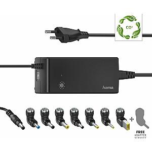 Hama piezīmjdatora strāvas adapteris Universāls piezīmjdatora barošanas avots 12-22V, 90W (002000040000)